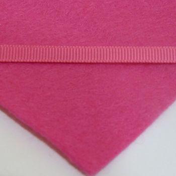 6mm Plain Grosgrain Ribbon - Bright Pink