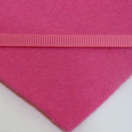 6mm Plain Grosgrain Ribbon - Bright Pink