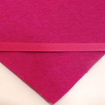 6mm Plain Grosgrain Ribbon - Fuchsia