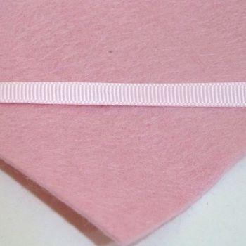 6mm Plain Grosgrain Ribbon - Light Pink