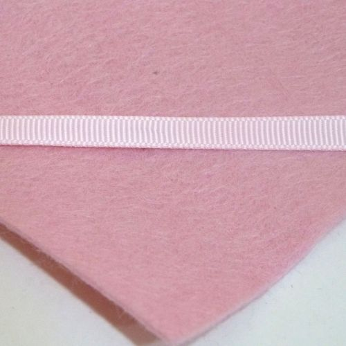 6mm Plain Grosgrain Ribbon - Light Pink