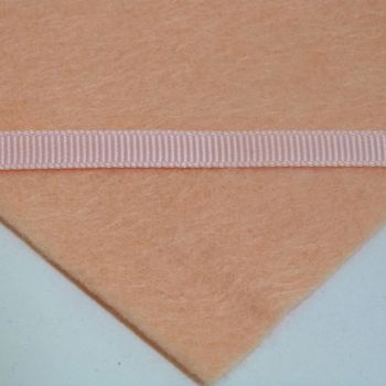 6mm Plain Grosgrain Ribbon - Pastel Peach