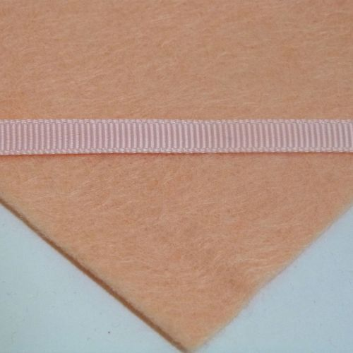6mm Plain Grosgrain Ribbon - Pastel Peach