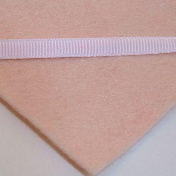 6mm Plain Grosgrain Ribbon - Pastel Pink
