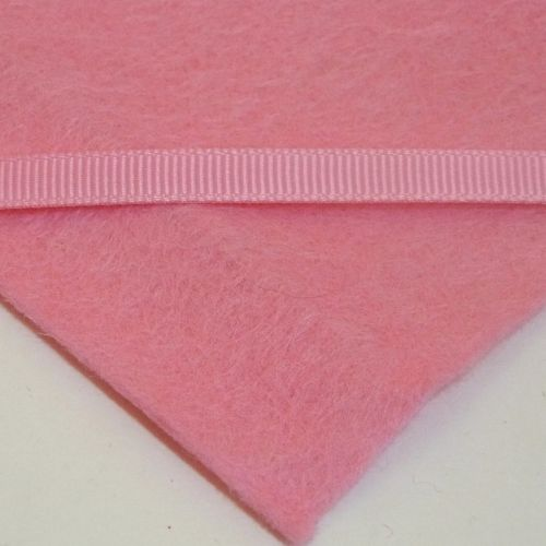 6mm Plain Grosgrain Ribbon - Pink