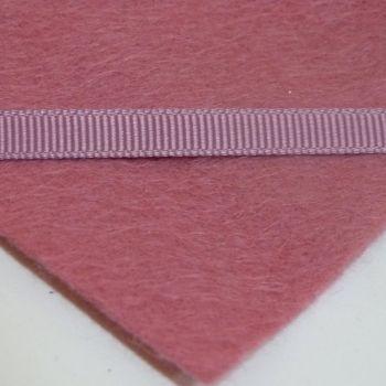 6mm Plain Grosgrain Ribbon - Raspberry