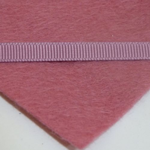 6mm Plain Grosgrain Ribbon - Raspberry