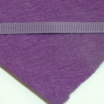 6mm Plain Grosgrain Ribbon - Amethyst