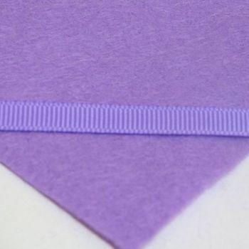 6mm Plain Grosgrain Ribbon - Lilac