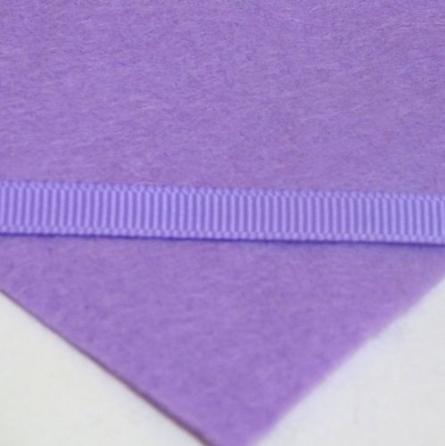 6mm Plain Grosgrain Ribbon - Lilac