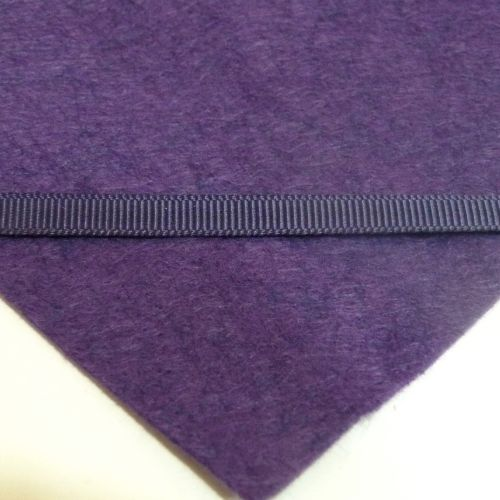 6mm Plain Grosgrain Ribbon - Plum