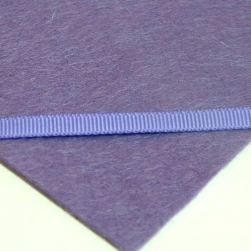 6mm Plain Grosgrain Ribbon - Purple