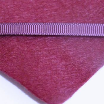 6mm Plain Grosgrain Ribbon - Claret