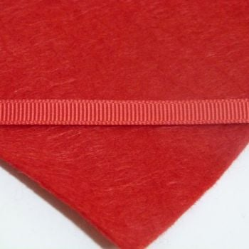 6mm Plain Grosgrain Ribbon - Poppy