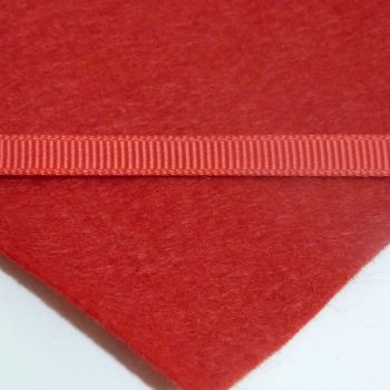 6mm Plain Grosgrain Ribbon - Red
