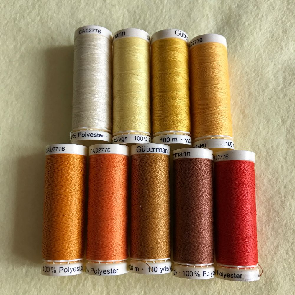Gutermann Sewing Thread - Orange Shades