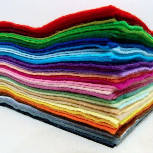 Wool Blend Felt Rainbow - 25cm x 30cm