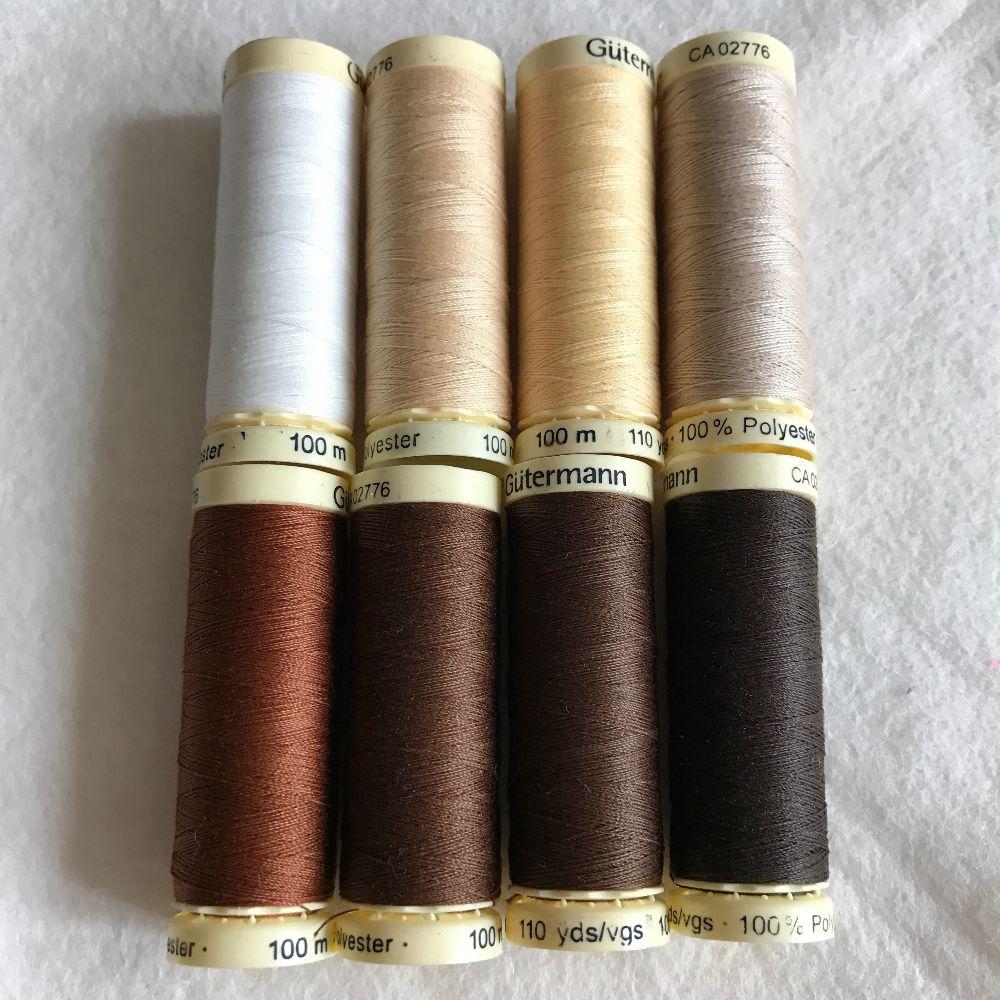 Gutermann Sewing Thread - Brown Shades