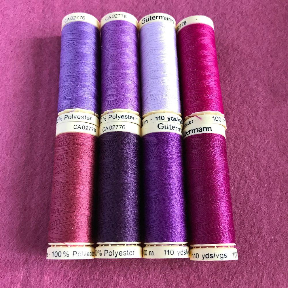 Gutermann Sewing Thread - Purple Shades