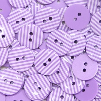 Pack of 10 - 15mm Stripe Buttons - Purple