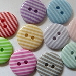 15mm Stripe Buttons