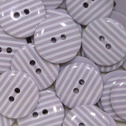 18mm Stripe Button - Lilac
