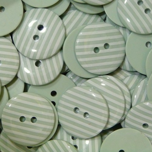 18mm Stripe Button - Mint