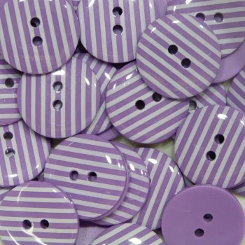 Pack of 10 - 18mm Stripe Button - Purple