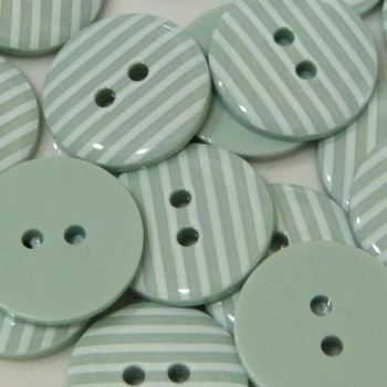 Pack of 5 - 23mm Stripe Button - Mint