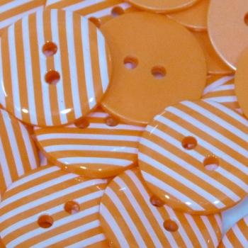 Pack of 5 - 23mm Stripe Button - Orange