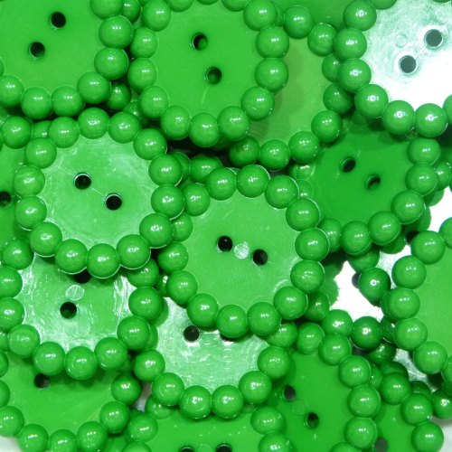 Bubble Edge Button - Green