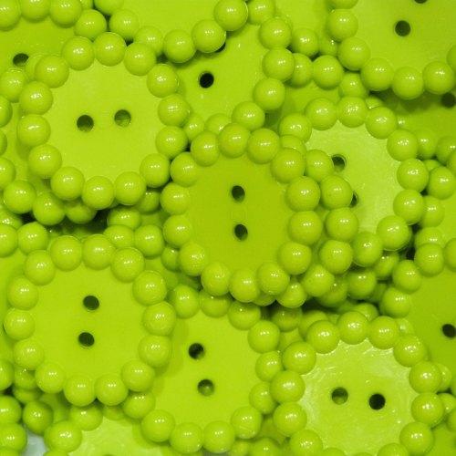 Bubble Edge Button - Lime Green