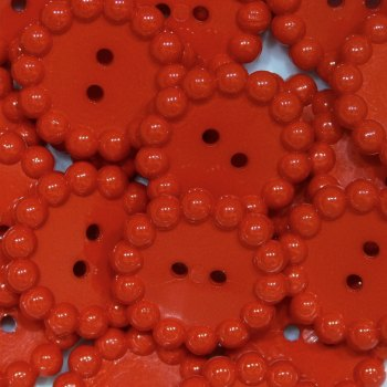 Pack of 5 - Bubble Edge Button - Red