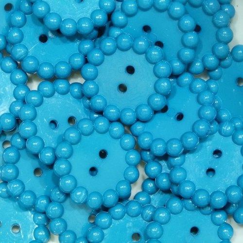 Bubble Edge Button - Teal