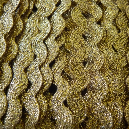 7mm Metallic Ric Rac - Gold