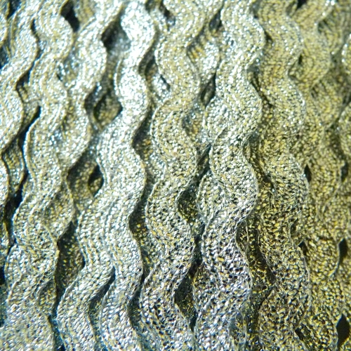 7mm Metallic Ric Rac - Silver