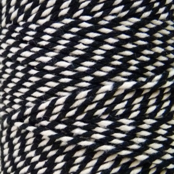 5 Metres - Bakers Twine: Black/White