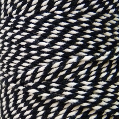 10m Bakers Twine: Black/White