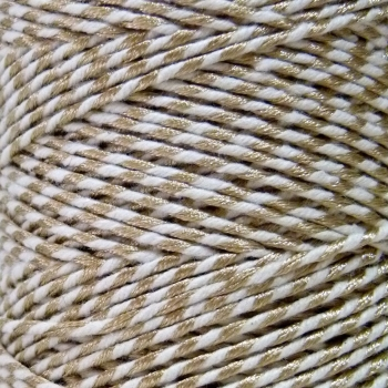 5 Metres - Bakers Twine: Gold/White