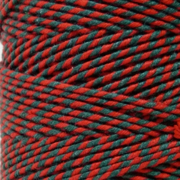 5 Metres - Bakers Twine: Green/Red