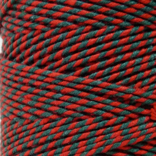 10m Bakers Twine: Green/Red