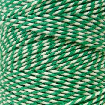 5 Metres - Bakers Twine: Green/White
