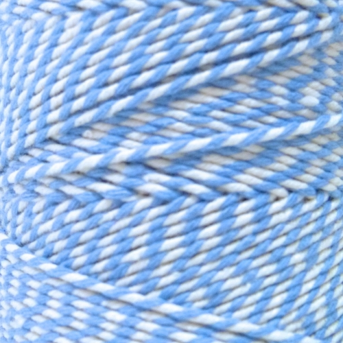 10m Bakers Twine: Light Blue/White