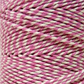 5 Metres - Bakers Twine: Pink/White