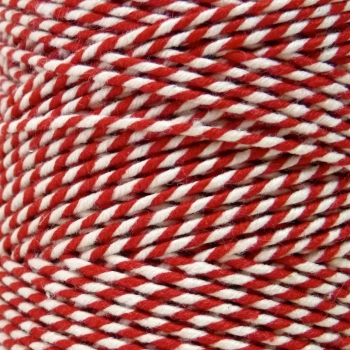5 Metres - Bakers Twine: Red/White