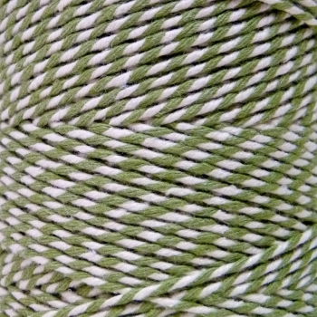 5 Metres - Bakers Twine: Sage Green/White
