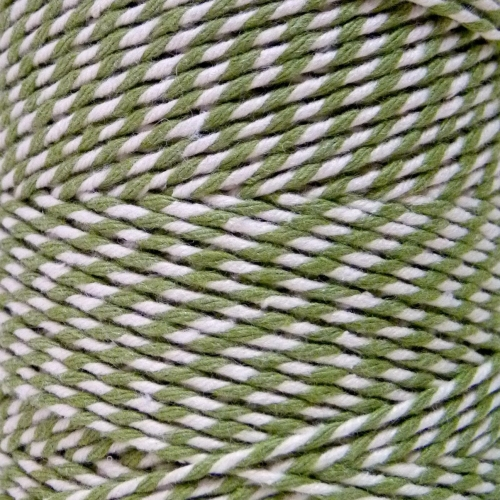 10m Bakers Twine: Sage Green/White