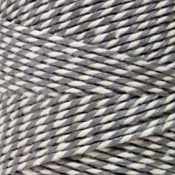 10m Bakers Twine: Silver/White