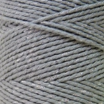 10m Bakers Twine: Solid Silver