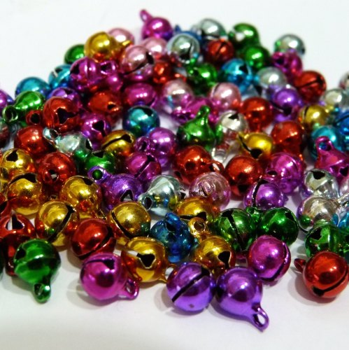 30 x 6mm Bells - Multicoloured